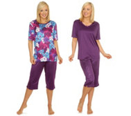 LITTLE ROSE MF Jersey Interlock Pyjamas bedruckt & uni Doppelpack