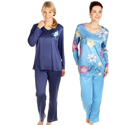 LITTLE ROSE MF Jersey Interlock Pyjamas, 1/1 Arm Doppelpack Druck & uni