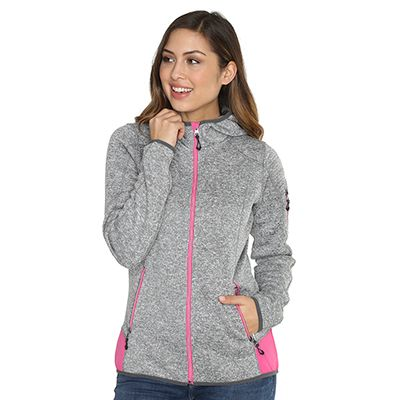 CENTIGRADE ACTIVE Strick-Fleecejacke innen Fleece außen Strick