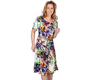 Kleid Blütendruck