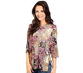 Shirt Floral-Animaldruck