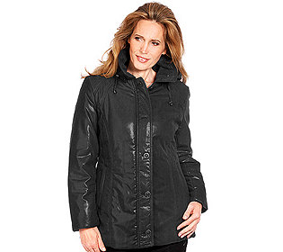 Damen-Jacke Leder-Optik