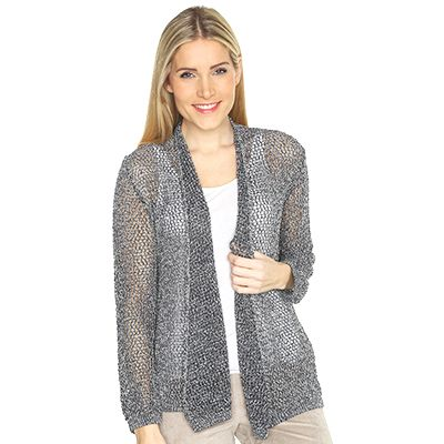 VIA MILANO Strickjacke Effektgarn - 101057