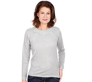 Pullover Spitzenbordüre