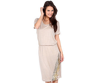 Kleid Pailletteneinsatz