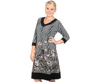 Kleid Zopfstrick-Look