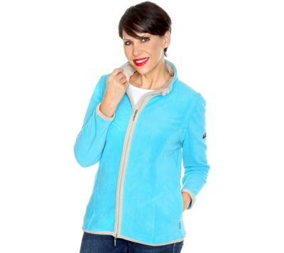 CENTIGRADE ACTIVE 2in1 Fleece Jacke abnehmbare Ärmel Kontrastnähte 2Wege-Reißver.