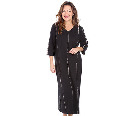 COTTON MADE IN AFRICA HOMEWEAR Kaftan, 3/4-Arm bedruckt