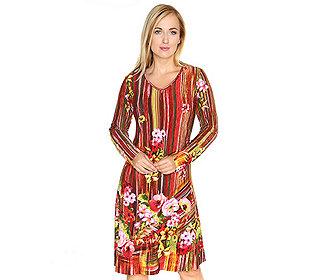 Kleid Pinsel-Blumen-Druck