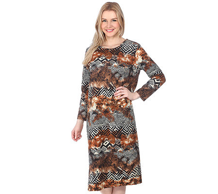 COTTON MADE IN AFRICA HOMEWEAR Kaftan, 1/1-Arm Ethno-Druck