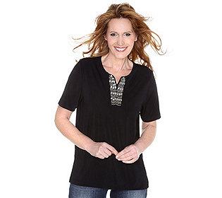 Shirt Perlenstickerei
