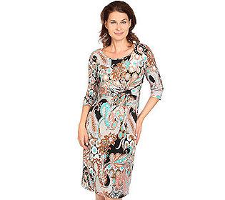Kleid Knoten-Raffung