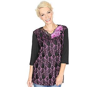 Shirt Spitzen-Lagenlook