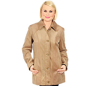 Damen-Jacke Materialmix