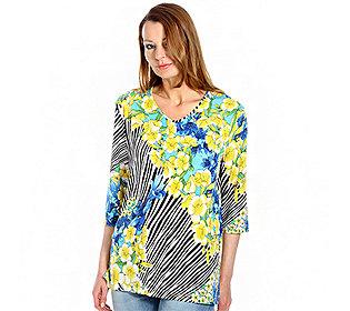 Shirt Streifen & Blüten