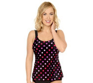 PARADISIO BADEMODE Tankini Top Softcups variable Träger Pünktchen-Druck
