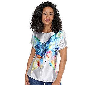 Shirt Schmetterling-Druck
