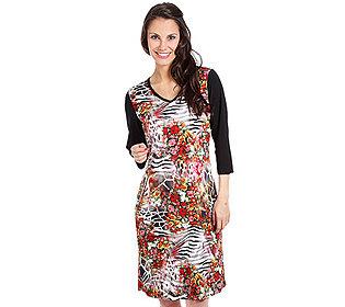 Kleid Floral-Animal-Druck