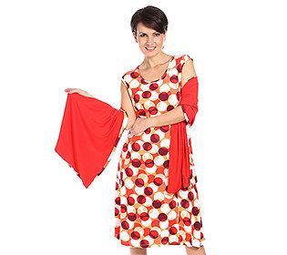 Kleid & Schultertuch