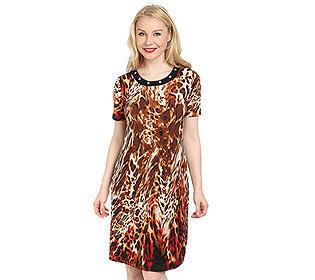 Kleid Leoparden-Druck