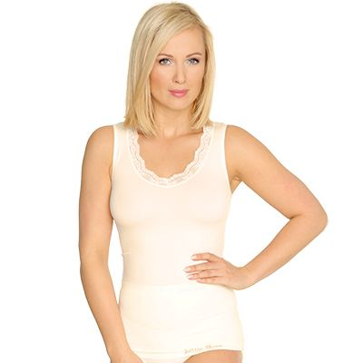 LITTLE ROSE MF Seamless Top Spitze & Basic Doppelpack