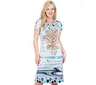 Kleid Grafik-Druck