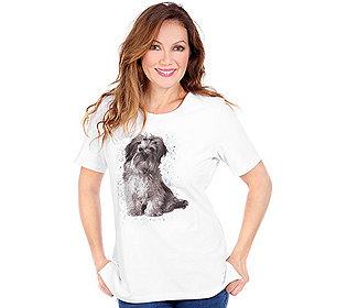 Shirt Hunde-Druck