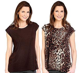 2 Shirts uni & bedruckt