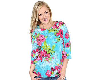 Shirt Blüten-Spitzendruck