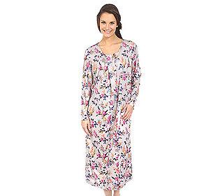 Nachthemd Blumendruck