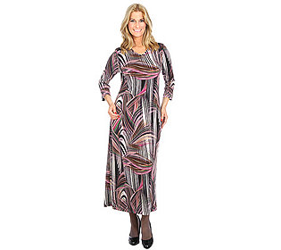 Kleid Linien-Druck