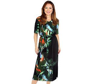 Kleid Pflanzendruck