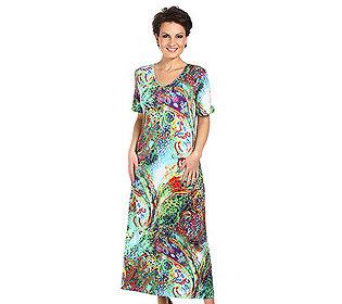 Kleid Aquarell-Druck