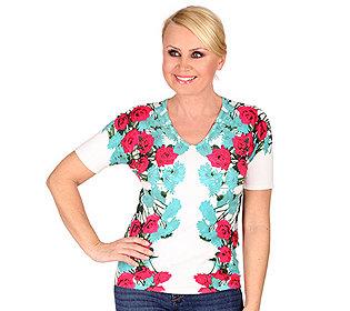 Pullover Blütendruck