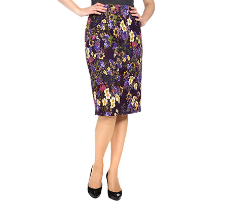 KIM & CO. Soft Touch Rock Rundumdehnbund Floral-Druck