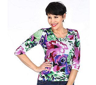 Pullover Blüten-Druck