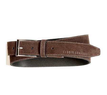 CLUB OF COMFORT® Herrengürtel Veloursleder Stretch-Funktion Breite ca. 3cm