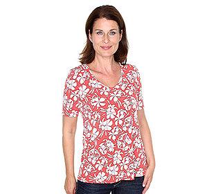 Shirt Blütendruck