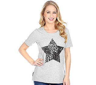Shirt Stern-Druck