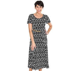 Maxi-Kleid Kettengürtel