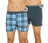MEN'S TOUCH Mikrofaser Boxer Shorts Druck & uni 4er-Pack