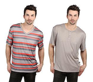 2 Shirts Streifen & uni