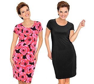 2 Kleider uni & Print