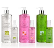 SBC Skincare Gel-Set Vitamin E 500+100ml Collagen 500+100ml Aloe Vera 500+100ml