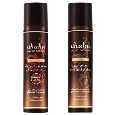 ahuhu organic hair care Colour it up Hairspray Strong Hold, 2tlg.