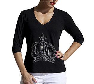 Shirt Strasskrone