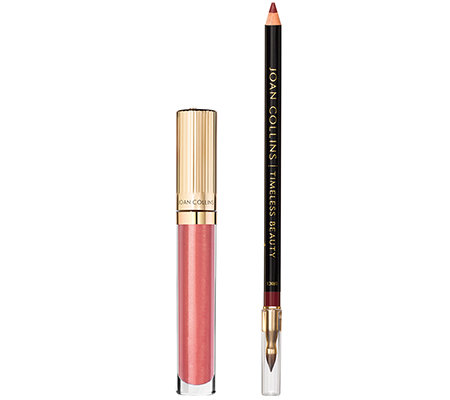 JOAN COLLINS Timeless Beauty Hi Visbility Lip Duo, Lipgloss & Lipliner, 2-tlg.