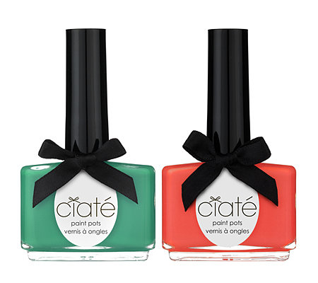 CIATÉ Nagellack-Duo Summer Holiday orange & grün 2x 13,5ml