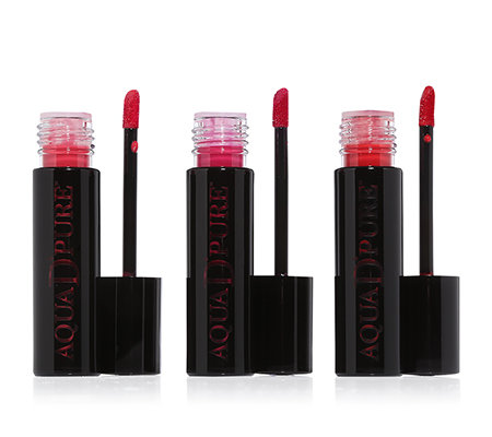 DOLL NO.10 Lipstain-Trio, Lipgloss-Set langanhaltend 3-tlg.