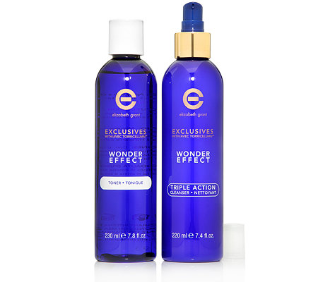 ELIZABETH GRANT WONDER EFFECT Cleanser 220ml & Toner 230ml 2-tlg.